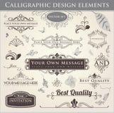 projektów kaligraficzni elementy Zdjęcie Stock