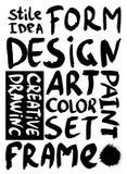 projektów kojarzeniowi słowa ilustracji