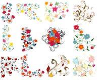 projektów kolorowi elementy ustawiają rocznika Zdjęcia Royalty Free