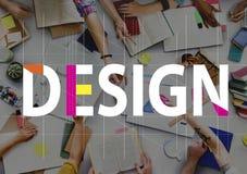 Projektów pomysłów grafiki pojęcia Kreatywnie ludzie Fotografia Stock