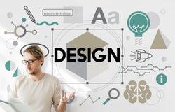 Projektów pomysłów twórczości Artystyczny pojęcie Obrazy Stock