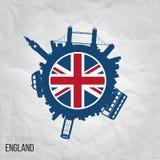 Projektów pomysły dla Anglia lub inspiracja royalty ilustracja