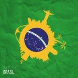 Projektów pomysły dla Brasil lub inspiracja Obrazy Stock