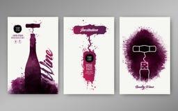 Projektów szablonów tła wina plamy ilustracja wektor
