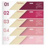 Projektów sztandarów czysty numerowy szablon Obraz Royalty Free