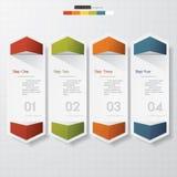 Projektów sztandarów czysty numerowy szablon Zdjęcia Stock