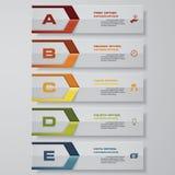 Projektów sztandarów czysty numerowy szablon wektor 5 kroków Zdjęcia Stock