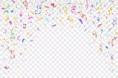 projekt świątecznie Granica kolorowi jaskrawi confetti royalty ilustracja