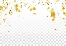 projekt świątecznie Złoto granica kolorowi jaskrawi confetti odizolowywający royalty ilustracja