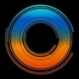 projekt abstrakcjonistyczne kolorowe linie wektor Obraz Royalty Free