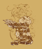 projekt abstrakcyjna koszula t Obrazy Royalty Free