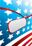projekt amerykańska flaga Zdjęcie Royalty Free