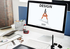Projekt architektury inżynierii technologii Cyrklowy pojęcie Zdjęcie Stock
