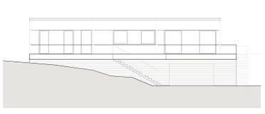 Projekt av det enkla familjhuset Arkivfoto
