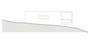 Projekt av det enkla familjhuset Arkivbild
