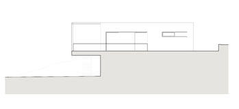 Projekt av det enkla familjhuset Royaltyfria Bilder