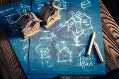 Projekt av det lilla fågelhuset Fotografering för Bildbyråer