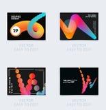 Projekt broszurka szablonu miękka pokrywa Colourful nowożytny abstrakta set, sprawozdanie roczne z kształtami dla oznakować obrazy stock