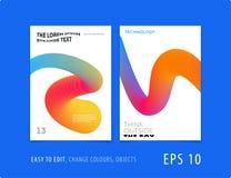 Projekt broszurka szablonu miękka pokrywa Colourful nowożytny abstrakta set, sprawozdanie roczne z kształtami dla oznakować zdjęcia royalty free