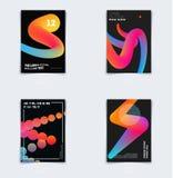 Projekt broszurka szablonu miękka pokrywa Colourful nowożytny abstrakta set, sprawozdanie roczne z kształtami dla oznakować fotografia royalty free