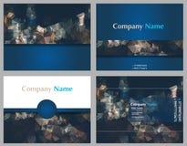 Projekt broszurki Abstrakcjonistyczny Wektorowy szablon Ulotka układ, mieszkanie styl, Infographic elementy z trójboka wzorem Obraz Stock