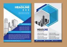 Projekt broszurki biznesu okładkowy szablon obraz stock