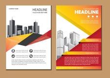 Projekt broszurki biznesu okładkowy szablon royalty ilustracja