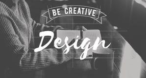 Projekt Był Kreatywnie sztuki grafiki pojęciem Zdjęcie Stock