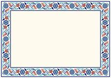 projekt cieszy się twój w pełni kwiecistą ramę Tradycyjnego Tureckiego ï ¿ ½ Osmański ornament Iznik ilustracja wektor