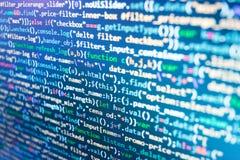 Projekt der Freewareoffenen quelle Programmierung, Kerben verhindernd in der Internet-Sicherheit IT-Fachmann-Arbeitsplatz stockfotos