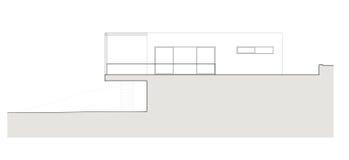 Projekt des Einfamilien- Hauses Lizenzfreie Stockbilder