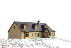 Projekt des neuen Hauses Lizenzfreie Stockfotos