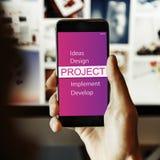 Projekt-Design-Werkzeug-Entwicklungs-Konzept Stockfotos