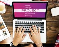 Projekt-Design-Werkzeug-Entwicklungs-Konzept Lizenzfreie Stockfotografie