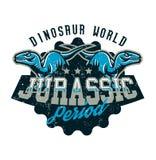 Projekt dla drukować na koszulce, agresywni dinosaury gotowi atakować Jurajski okres, drapieżnik dawność, sport ilustracja wektor