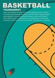 Projekt dla koszykówki Plakat dla turnieju fotografia stock