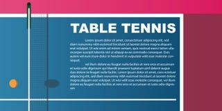 Projekt dla stołowego tenisa Plakat dla turnieju Abstrakta bac obraz royalty free