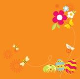 projekt Easter retro royalty ilustracja