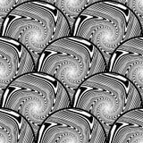 Projekt elipsy bezszwowy monochromatyczny tło Fotografia Royalty Free