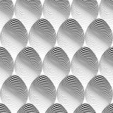 Projekt elipsy bezszwowy monochromatyczny wzór Obraz Royalty Free