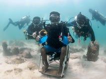 Projekt för att handikappade personer ska dyka Royaltyfri Foto