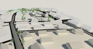 Projekt för illustration 3D av byggnad Royaltyfria Foton