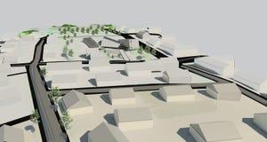 Projekt för illustration 3D av byggnad Royaltyfria Bilder