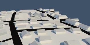 Projekt för illustration 3D av byggnad Arkivfoton
