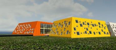 Projekt för illustration 3D av grundskola för barn mellan 5 och 11 år Royaltyfri Bild