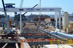 Projekt för Seattle djupt tråkmånstunnel Royaltyfria Foton