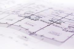 Projekt för skissning för papper för teknikdiagramritning royaltyfri bild