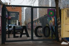 Projekt fabryka Flacon Fotografia Stock