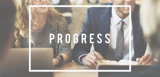 Projekt-Fortschritts-Geschäfts-Verwaltungsplan-Konzept Lizenzfreies Stockbild