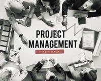 Projekt-Fortschritts-Geschäfts-Verwaltungsplan-Konzept Stockbild